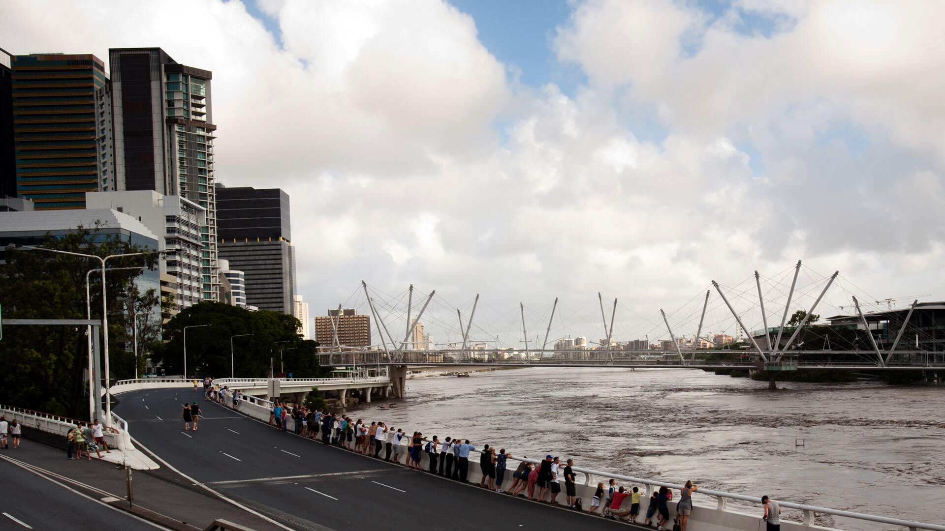 The Brisbane River flooded in January 2011, which caused widespread disruption to businesses, public services such as transport and energy supply and homes.